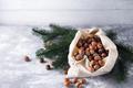 Hazelnuts in a bag