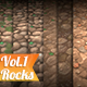 Texture Set Vol.01 Hand Painted Rock - 3DOcean Item for Sale