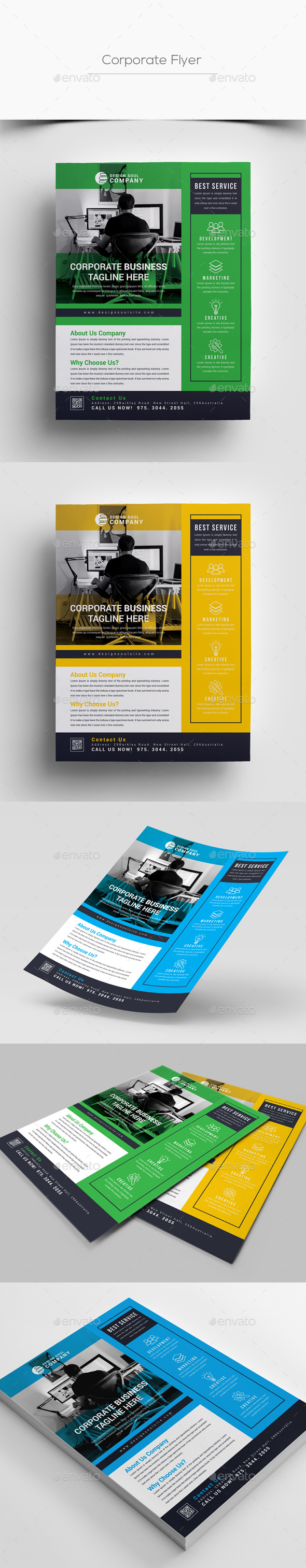 GraphicRiver Corporate Flyer 20991945