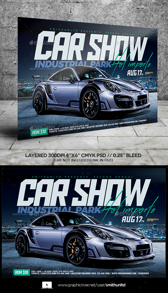 GraphicRiver Car Show Hot Imports Flyer Horizontal 20991957
