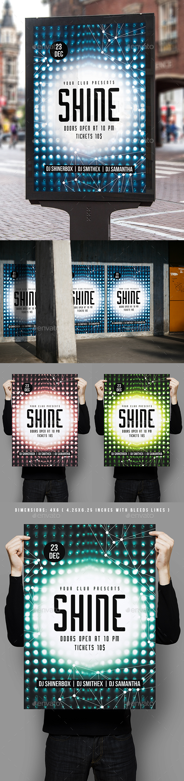 GraphicRiver Shine Party Poster Template 20992009