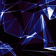Polygonal Blue Crystal Background