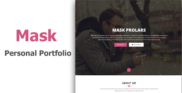 Mask – Personal Portfolio & Resume Template            nulled