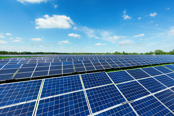 Solar power station - Stock Photo - Images