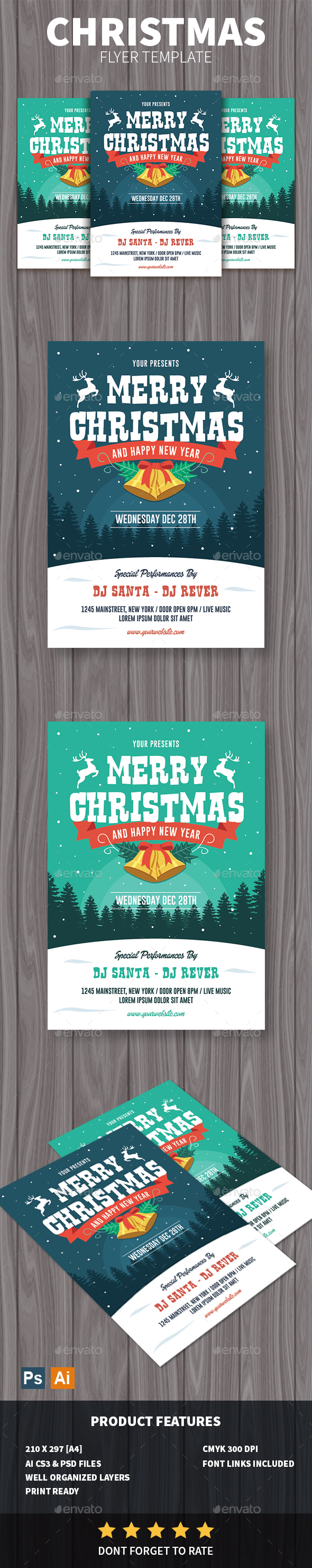 GraphicRiver Christmas Flyer 20992423