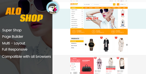 ThemeForest AloShop Mega Store & Flexible Page Builder Prestashop 1.7.x Theme 10 home page 20842788