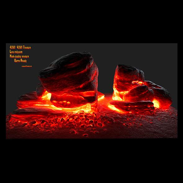 3DOcean lava rock 20992729