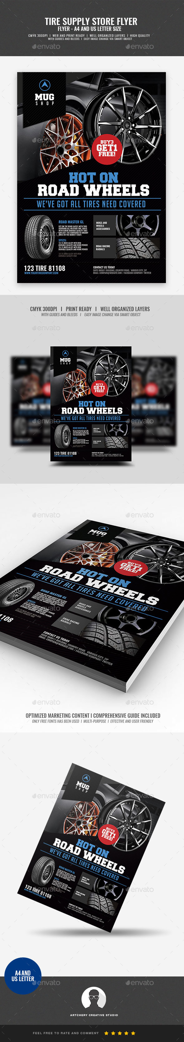 GraphicRiver Tire Supply Shop Flyer 20992732