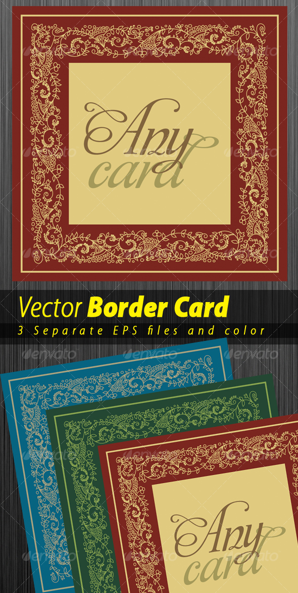 Border Desing for any type of card - Borders Decorative