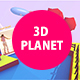 3D Lowpoly Planet Slideshow and Titles - VideoHive Item for Sale