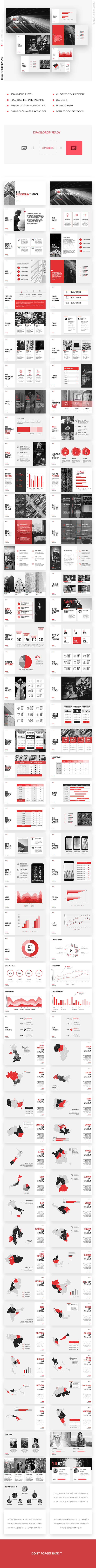 GraphicRiver Red Business Marketing Keynote Template 20992829
