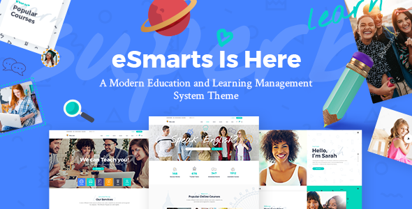 Image of eSmarts - A Modern Education and LMS Theme