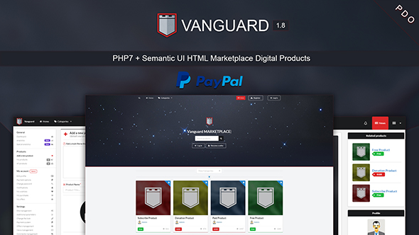 Vanguard - Marketplace Digital Products PHP7 - CodeCanyon Item for Sale