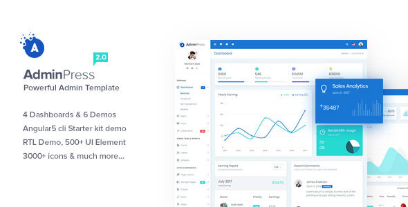 Admin Press - The Ultimate & Powerful Bootstrap 4 Admin Template