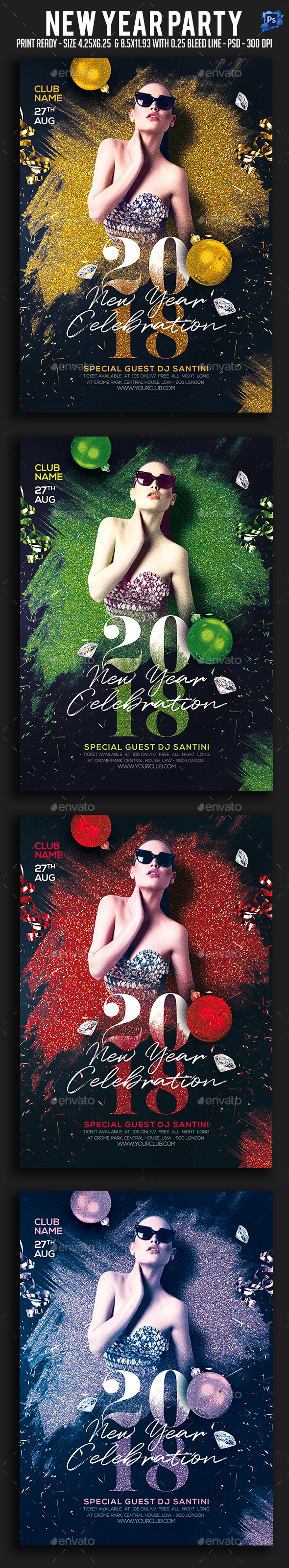 GraphicRiver New Year Party Flyer 20992930