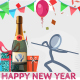 Happy New Year vs Bad Old Year - Humorous Greetings - VideoHive Item for Sale