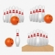 Bowling Ball and Skittles Vector Realistic - GraphicRiver Item for Sale