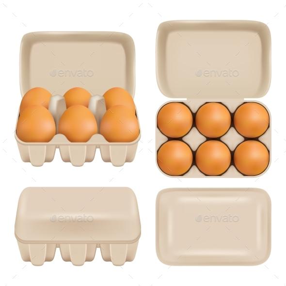 GraphicRiver Vector Egg Carton Consumer Pack Set 20992980
