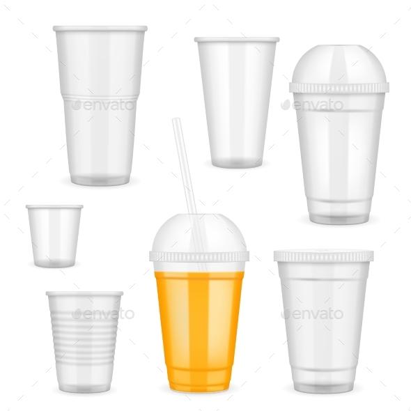 GraphicRiver Vector Realistic Transparent Disposable Plastic 20992989