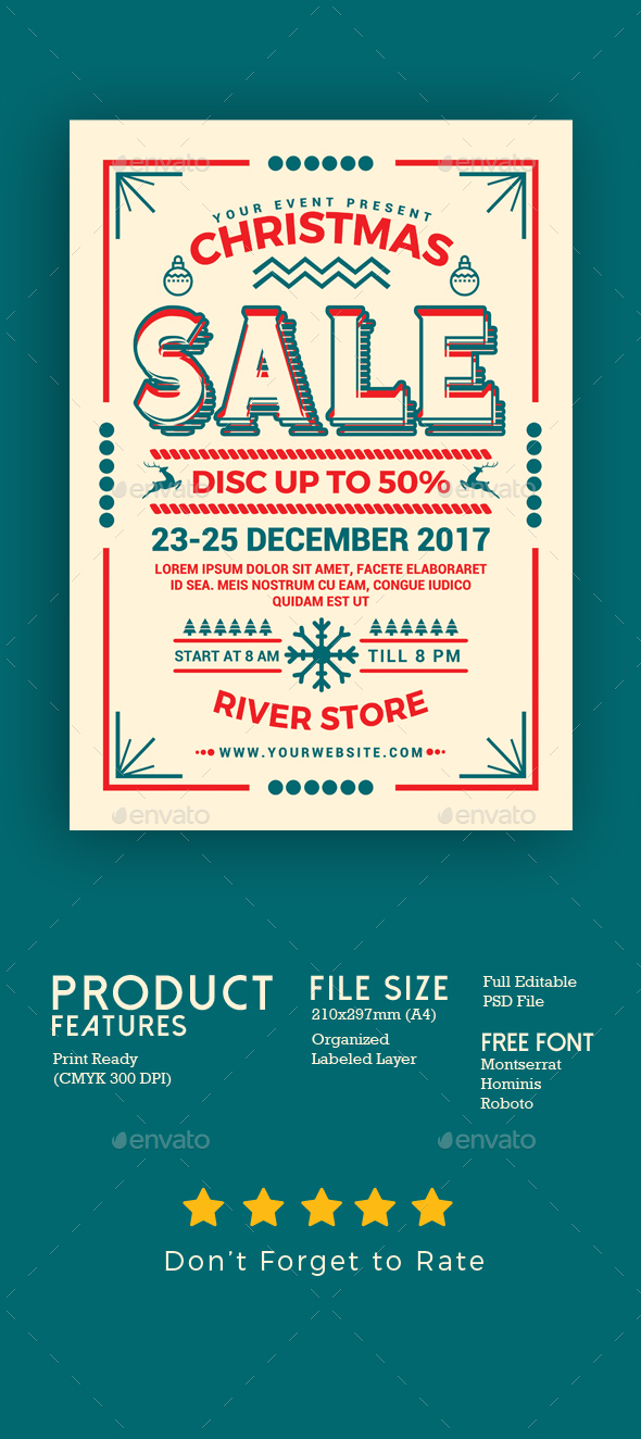 GraphicRiver Christmas Sale Flyer 20993004
