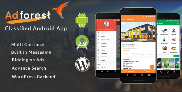 CodeCanyon AdForest Classified Native Android App 20963101