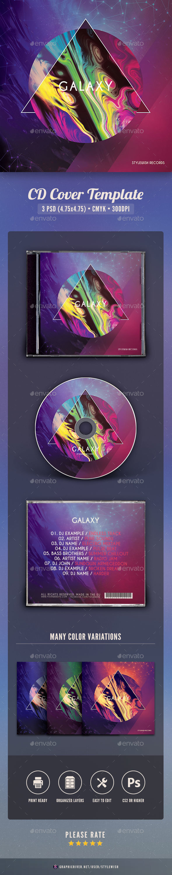 GraphicRiver Galaxy CD Cover Artwork 20993114