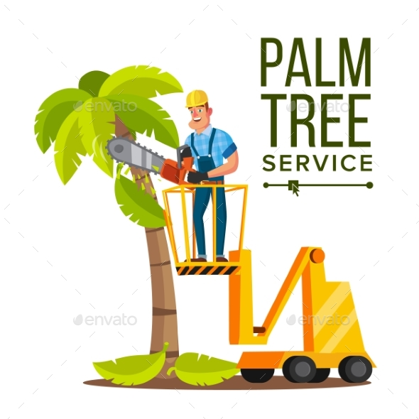 Palm Tree Care Vector - Industries Business