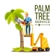 Palm Tree Care Vector