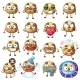 Cartoon Chocolate Chip Cookie Characters - GraphicRiver Item for Sale