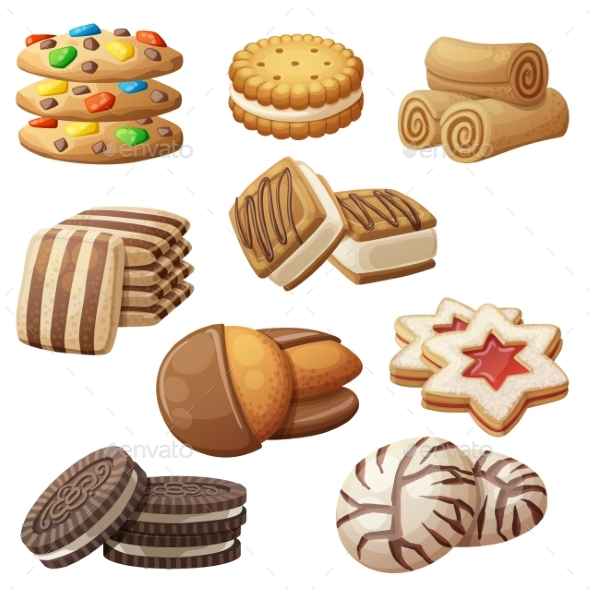 GraphicRiver Set of Cookie Icons 20993210