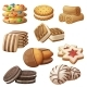 Set of Cookie Icons - GraphicRiver Item for Sale