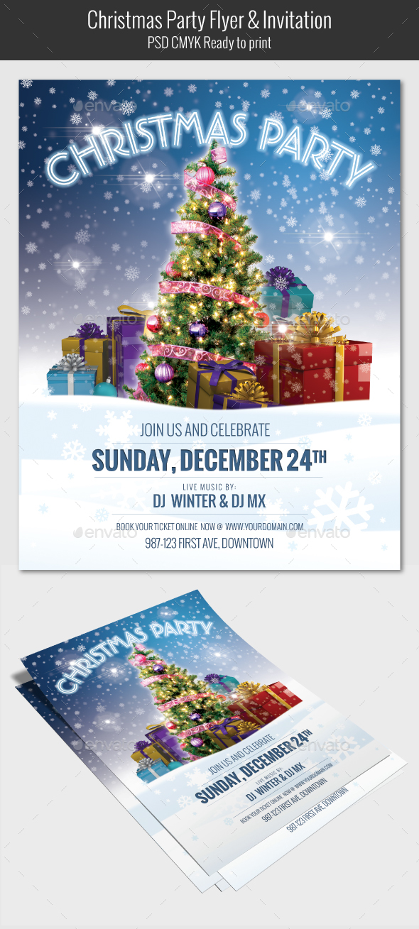 GraphicRiver Christmas Party Flyer V03 20976322
