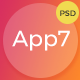 App7 app landing PSD template