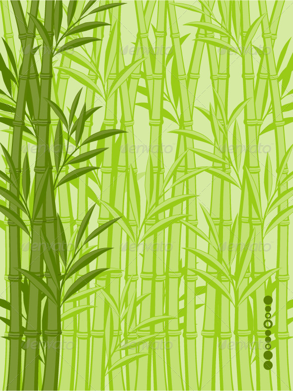 Abstract floral background with a bamboo - Flowers & Plants Nature