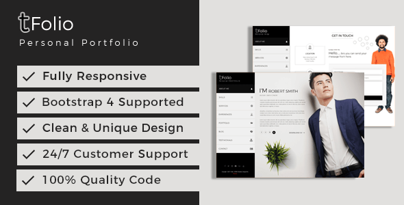 Resume HTML Website Templates from ThemeForest
