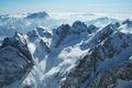 Snow covered Alps. Italian Dolomites
