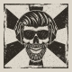 Skull Music Hipster Vector Vintage Grunge Design - GraphicRiver Item for Sale