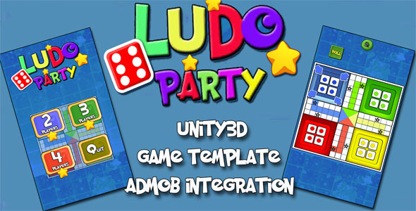CodeCanyon Ludo Party Unity3D Source Code & Admob Integrated & Android iOS Supported & POPULAR BOARD GAME 20993630