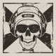 Skull Music Vector Vintage Grunge Design - GraphicRiver Item for Sale