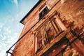 Old mediterranean style building facade
