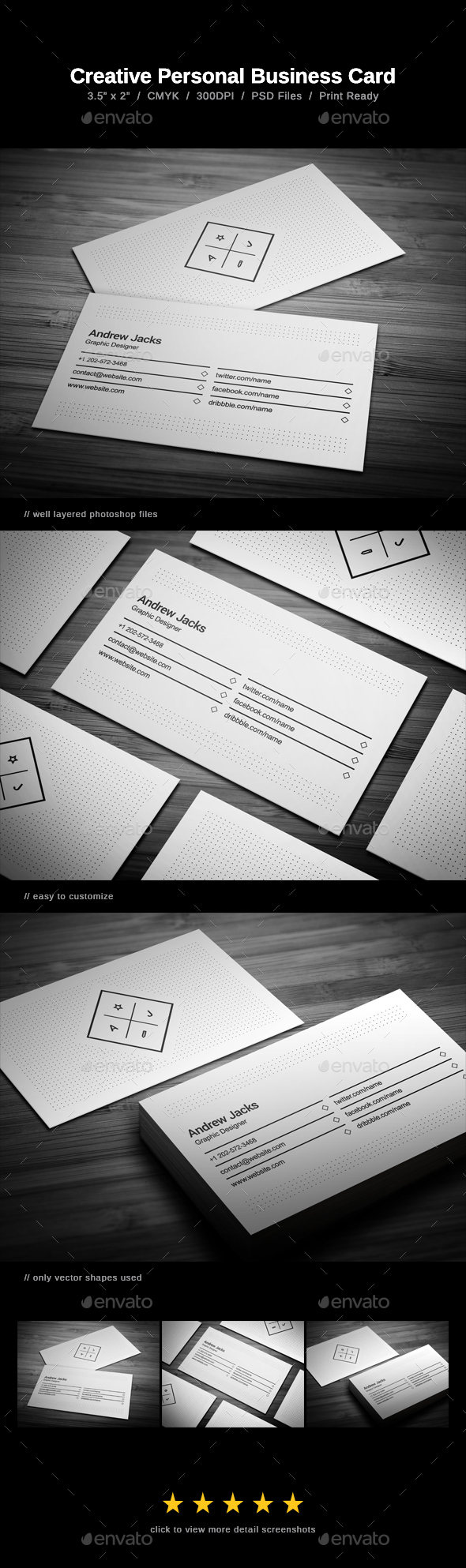 GraphicRiver Creative Personal Business Card 20993949