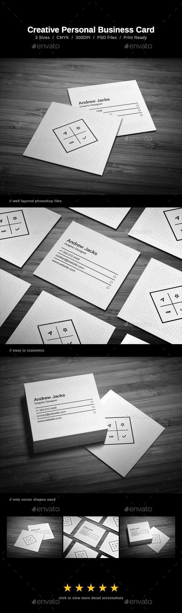 Creative Personal Business Card - Business Cards Print Templates