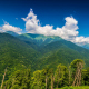 Mountains And Green Trees On Foreground - VideoHive Item for Sale
