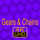 Rotating Gears with Chains Backgrounds Pack - VideoHive Item for Sale