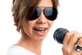 Girl Singing on white background - PhotoDune Item for Sale