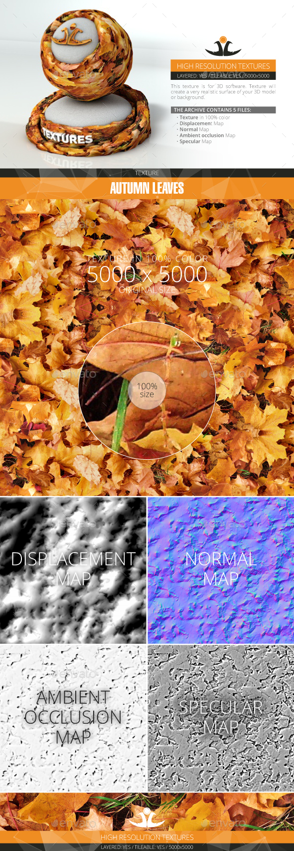 3DOcean Autumn Leaves 3 20994285