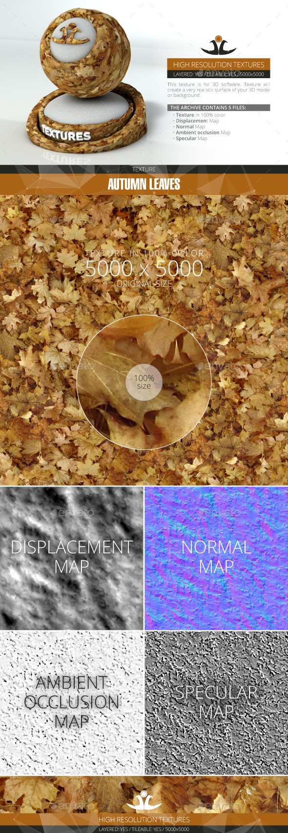 Autumn Leaves 6 - 3DOcean Item for Sale