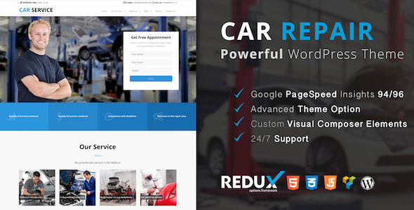 Avados - Car Service WordPress Theme