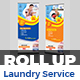 Laundry Services Roll-Up Template - GraphicRiver Item for Sale