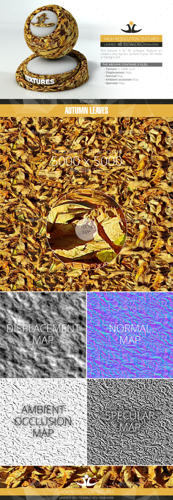 Autumn Leaves 8 - 3DOcean Item for Sale